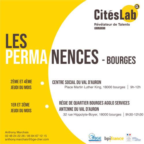 #QPV – Le retour des permanences CitésLab Bourges