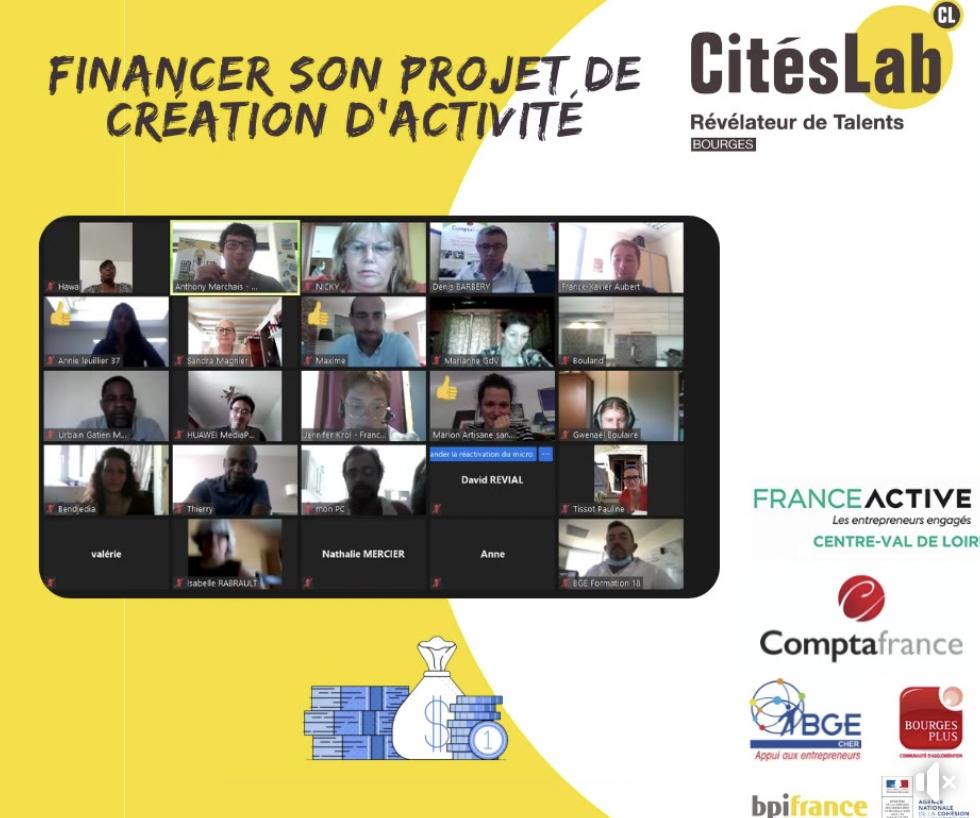 #REPLAY – Financer son projet de création d'entreprise avec France Active, ComptaFrance et CitésLab Bourges
